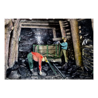 Wilkes Barre Pennsylvania Coal Mining in Shaft Poster