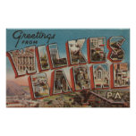 Wilkes-Barre, Pennsylvania - Large Letter Scenes 2 Poster