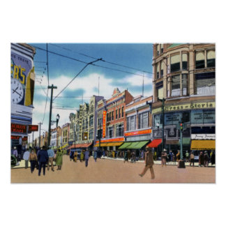 Wilkes Barre Pennsylvania South Main Street Poster