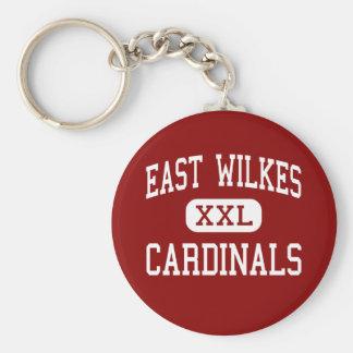 Wilkes del este - cardenales - alto - Ronda Llavero Personalizado