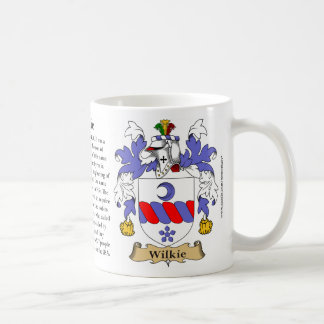 Wilkie, the Origin, the Meaning and the Crest Coffee Mug