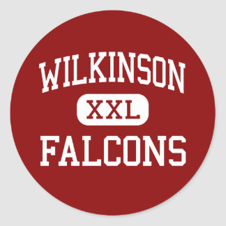 Wilkinson - Falcons - centro - Madison Heights Pegatina Redonda