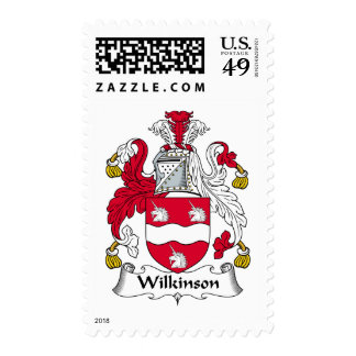 Wilkinson Family Crest Postage Stamps