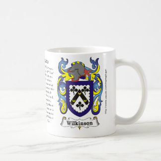 Wilkinson, the origin, meaning and the crest coffee mug