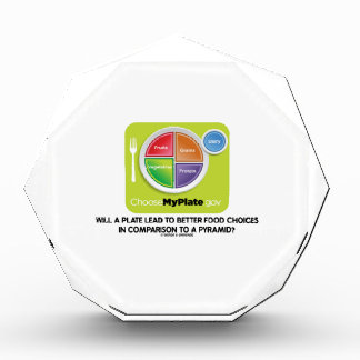 Will A Plate Lead To Better Food Choices Pyramid Acrylic Award