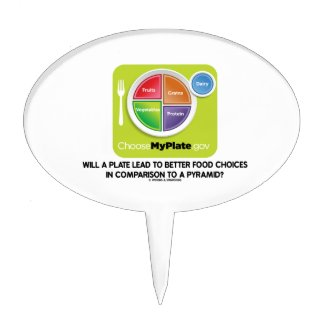 Will A Plate Lead To Better Food Choices Pyramid Cake Picks