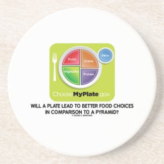 Will A Plate Lead To Better Food Choices Pyramid Drink Coasters