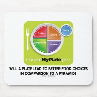 Will A Plate Lead To Better Food Choices Pyramid Mouse Pads