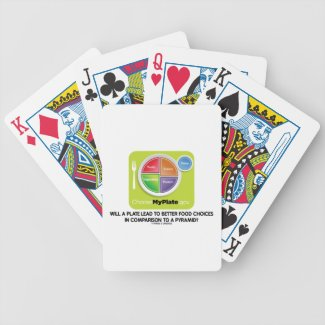 Will A Plate Lead To Better Food Choices Pyramid Bicycle Card Deck