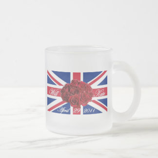 Will and Kate 2011 Limited Edition Commemorative Frosted Glass Coffee Mug