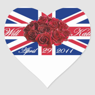 Will and Kate 2011 Limited Edition Commemorative Heart Sticker