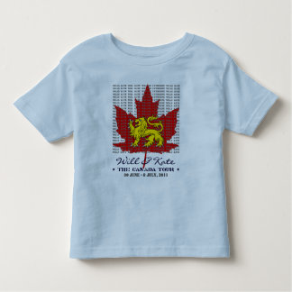 WIll And Kate CANADA Tour 2011 Kids TShirt