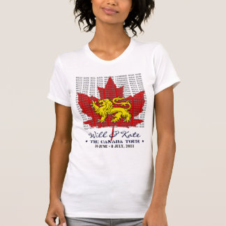 WIll And Kate CANADA Tour 2011 White T-Shirt