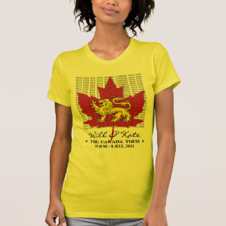 WIll And Kate CANADA Tour 2011 Yellow T-Shirt
