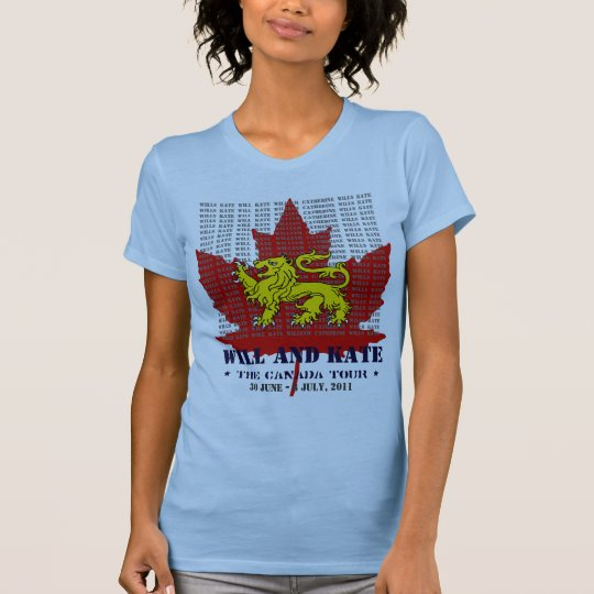 Will And Kate CANADA Tour Keepsake T-Shirt