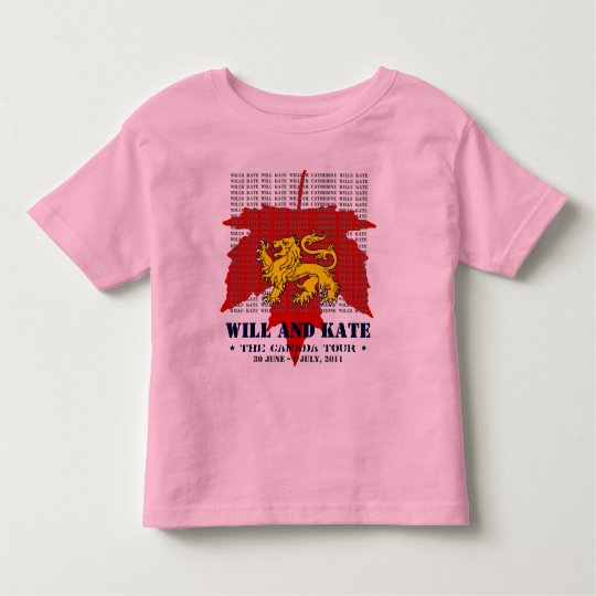 Will And Kate CANADA Tour Kids Ringer T-Shirt
