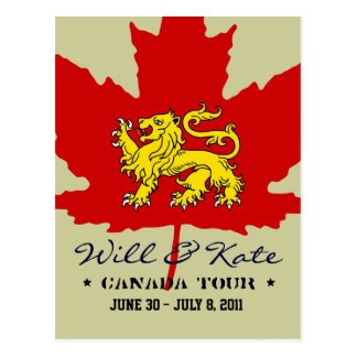 Will and Kate CANADA Tour Postcard