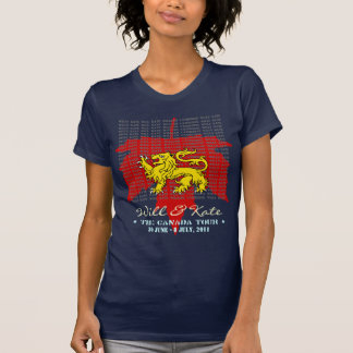 Will And Kate CANADA Tour T-Shirt (Blue)