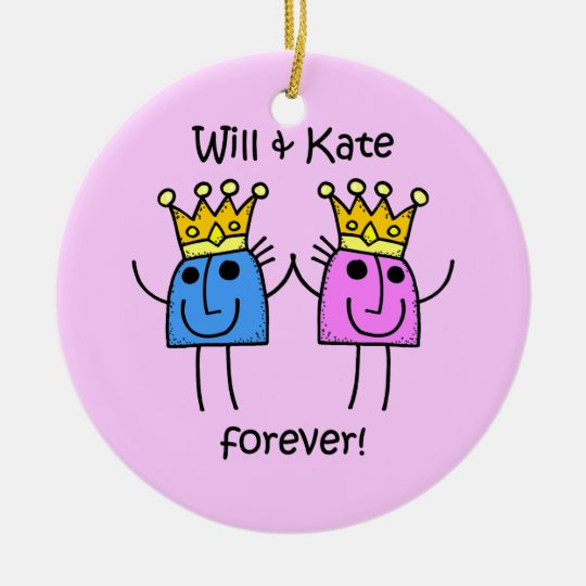 Will and Kate Ceramic Ornament