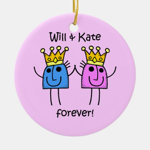 Will and Kate Christmas Tree Ornaments