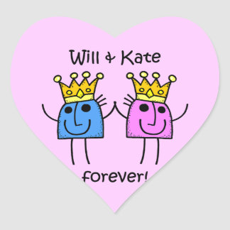 Will and Kate Heart Sticker