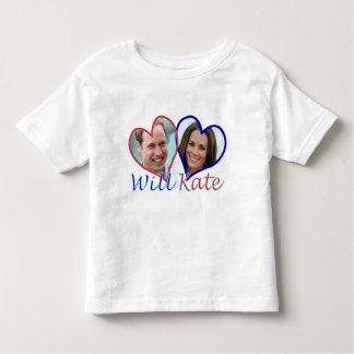 Will and Kate hearts Toddler T-shirt