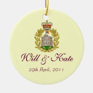 Will and Kate Keepsake Wedding Ornament