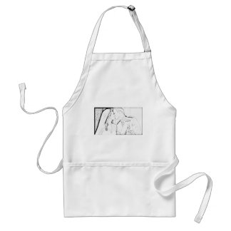 Will and Kate kiss Adult Apron