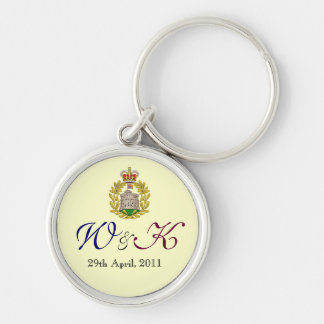 Will and Kate Monogram Premium Keychain