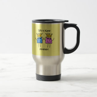 Will and Kate 15 Oz Stainless Steel Travel Mug