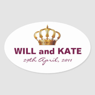 Will and Kate Royal Wedding Sticker