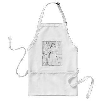 Will and kate wedding adult apron