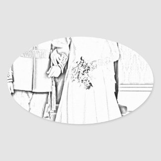 Will and kate wedding oval sticker