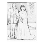 Will and kate wedding postcards