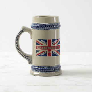 Will and Kate Winning Wedding Beer Stein