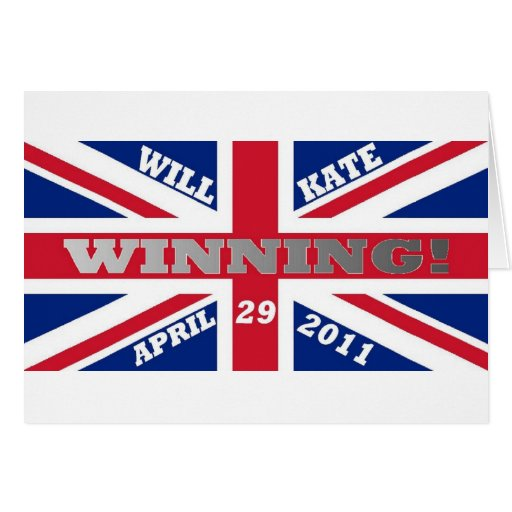 Will and Kate Winning Wedding Greeting Cards
