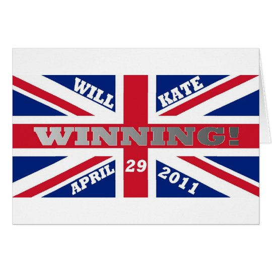 Will and Kate Winning Wedding Card