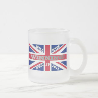 Will and Kate Winning Wedding Frosted Glass Coffee Mug