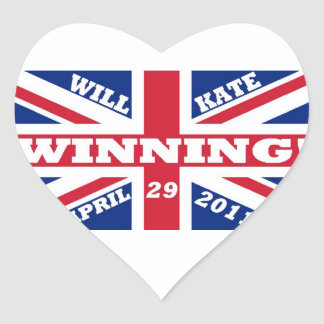 Will and Kate Winning Wedding Heart Sticker