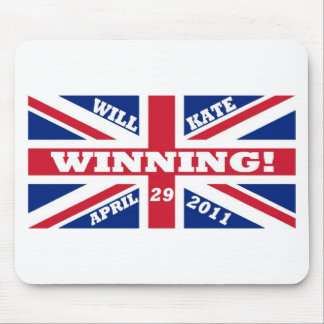 Will and Kate Winning Wedding Mouse Pad