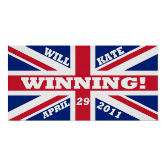 Will and Kate Winning Wedding Poster