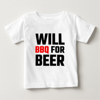 Will BBQ For Beer Baby T-Shirt