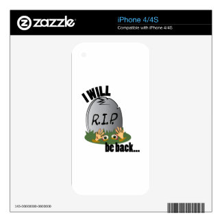 Will Be Back Decals For The iPhone 4S