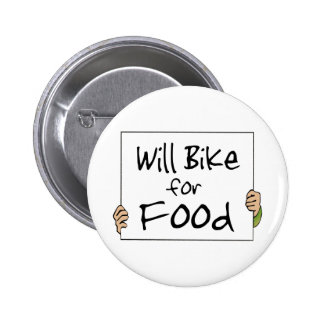 Will Bike for Food Pin