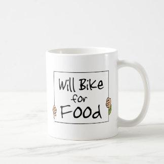 Will Bike for Food Mug