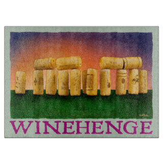 "Will Bullas cutting board ""Winehendge"""