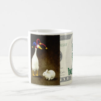 """Will Bullas mug """"a fool and his bunny"""""""