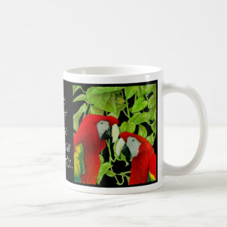 "Will Bullas mug ""the last time I saw parrots..."""