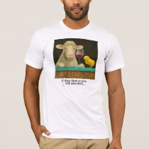 "Will Bullas tee ""sheep-faced on wine..."""