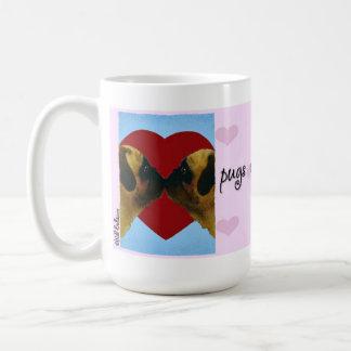"Will Bullas Valentine mug ""pugs and kisses"" Basic White Mug"
